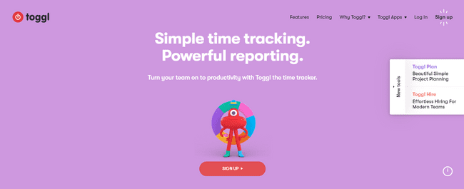 Time tracking app Toggl